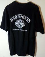 Vtg Harley Davidson 1999 Harley Heaven Adelaide, Australia T Shirt Sz XL