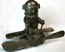 EARLY HASSALL PILOT RADIATOR CAP MASCOT 1920s MODEL T FORD MACK RENAULT CADILLAC