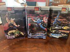 Marvel Toy Biz Model Kits Captain America, Wolverine, Beast Sealed