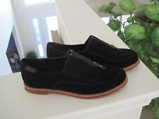 G.H. BASS BLACK SUEDE SEAROCK EBBIE OXFORD SHOES, 6M