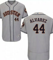 Yordan Alvarez Houston Astros Majestic Gray Flex Base jersey Mens M-2XL AL ROY!
