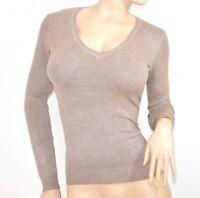 Maillot femme beige taupe manches longue décolleté underjacket couleur unie E20