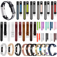 Replacement Silicone Leather Stainless Wrist Band Strap For Fitbit Alta /Alta HR