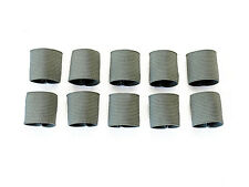 """1"""" Mil-spec Elastic Webbing Strap Keepers - Foliage Green - 10 Pack"""