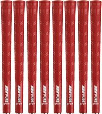 PURE DTX Reminder RIBBED Red Standard Size Golf Grips - Set of 8 - Brand NEW