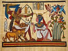 PAINTING ANCIENT EGYPTIAN MURAL PHARAOH QUEEN ARCHERY ARROW BOW POSTER BMP10019