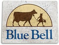 """""""BlueBell Ice Cream"""" Metal Wall Decor Shop Parlor Store Bar Sign"""