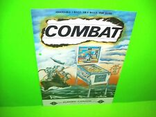 Zaccaria 1977 COMBAT Original Flipper Game Pinball Machine Flyer Euro Eucan Rare