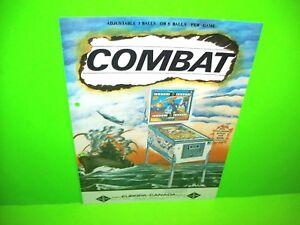 Zaccaria 1977 COMBAT Original Flipper Game Pinball Machine Flyer Euro Eucan Rare