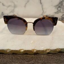"Tom Ford ""Savannah-02"" Tortoise & Gold Oversized Cat-Eye Sunglasses Tf552 56B"