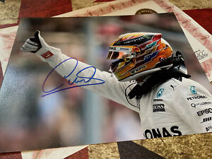 Hand Signed Lewis Hamilton 10x8 Photo - Authentic Autograph with Proof