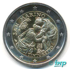 2 EURO Gedenkmünze SAN MARINO 2018 - 500. Gebu. Tintoretto - lose, OHNE Folder