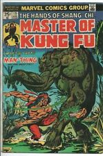 Marvel Comics Master of Kung Fu #19 Aug '74 Guest starring Man-Thing VG/F