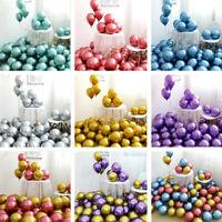 de mariage Chrome épais Perle métallique Ballon en latex Jouet gonflable