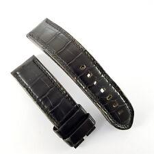 Jaeger-LeCoultre 23 / 22mm schwarzes Alligator Leder Armband