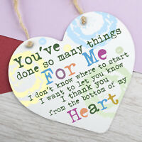 Special Thank You Friend Gifts Metal Heart Hanging Sign Teacher Gifts Friendship