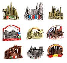 Metal Fridge Magnet Paris Venice Prague Barcelona Thailand Dubai Rome Souvenir