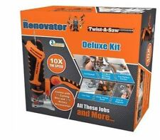 TWIST-A-SAW DELUXE KIT THE RENOVATOR HAMMER DRILL JIGSAW ROUTER CUT TOOL
