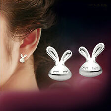 2017 new products Fashion jewelry 925 silver rabbit Earrings fine Female gift