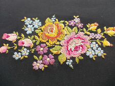 Vintage Austrian Clutch Purse Bag Petit Point Embroidered NeedlePoint