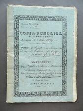 Manoscritto Rogito Copia Pubblica Acquisto Predio Montevecchio Senigallia 1839