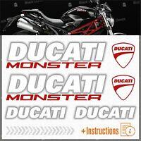 6pcs kit Bianco Rosso Adesivi compatibile con Moto Ducati Monster 696 769