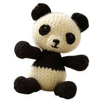 Amigurumi häkeln Häkelset -Panda Puppe mit Material und Werkzeug für