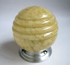 Ancienne Lampe Art Déco Globe en Verre Douille Porcelaine