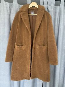 Next Brown Teddy Borg Coat Size 10