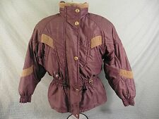 Womens DESCENTE Winter Coat Ski Snowboard Snowmobile Jacket Burgandy Size 6