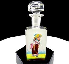 """BACCARAT ST LOUIS CRYSTAL ENAMEL VICTORIAN GIRL MARY GREGORY STYLE 4.5"""" PERFUME"""