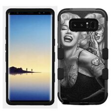 for Samsung Galaxy Note 8 Rugged Hard+Rubber Hybrid Case Marilyn Monro