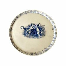 Antique Carlsbad Marx & Gutherz Porcelain Charger/Cupboard Plate Cherubs