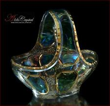 "Bohemian Crystal Candy bowl 21 cm, ""Versal"" Green, New!"