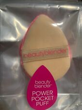 New Beauty Blender Power Pocket Puff Dual Sided Powder Puff Full Size $15