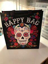 "Natural Life recycled plastic bag.14""x12.5 SUGAR SKULL HAPPY BAG  Gift Tote Bag"