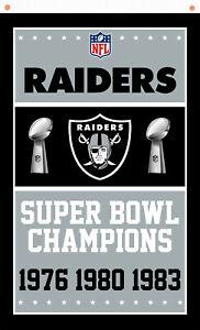 Oakland Raiders Champion Memorable Football flag 90x150cm 3x5ft best banner