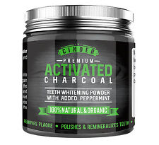 Activated Charcoal Teeth Whitening Whitener Premium - Peppermint
