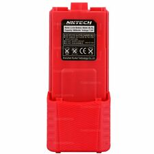 NKTECH 3800mAh Extended Battery Fit BaoFeng UV-5R Plus UV-5RA Two-Way Radio Red