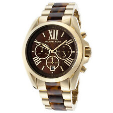 Latest Michael Kors Women's MK5696 Tortoise Chronograph Watch Brand New