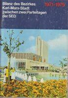 Chemnitz=Bilanz des Bezirkes Karl-Marx-Stadt zwischen 2 Parteitagen SED 1971-75