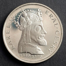 """1978, Czechoslovakia (Socialist Rep.). Proof Silver 100 Korun """"Charles IV"""" Coin."""