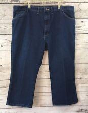 Wrangler Size 46 X 25 Men's Jeans Medium Wash Denim Permanent Crease Cot/Poly