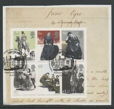 Gb 2005 150th death Anniversary Charlotte Bronte Minisheet fine used set stamps