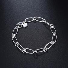 """Bracelet argent """"Chaîne"""" - 8 mm x 19 cm - Envoi de France le jour même"""