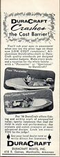 1958 Print Ad DuraCraft Pacesetter & Custom Sportsman Boats Monticello,AR
