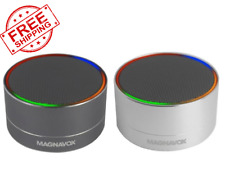 Magnavox Rechargeable Wireless BT Speakers Portable Speaker With LED Light Deco