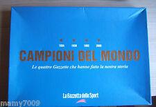COFANETTO gazzetta dello sport=CAMPIONI DEL MONDO=Le quattro Gazzette mondiali