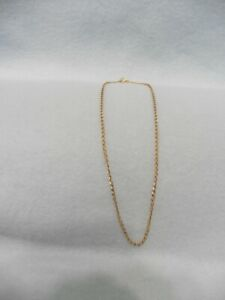 Lalique Gold Plated 16 Inch Chain Link Necklace