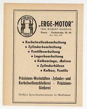 POSEN, Werbung 1941, Erge Motor Inhaber Robert Gunsch Zylinder-Kurbelwellen